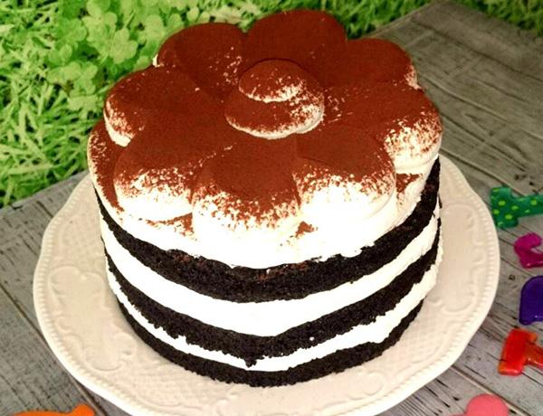 しましまのティラミスケーキ