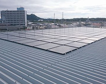 産業用太陽光発電システム(折半屋根工法)