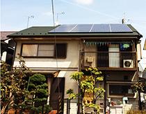 最新の太陽光発電システムにお取替えしました